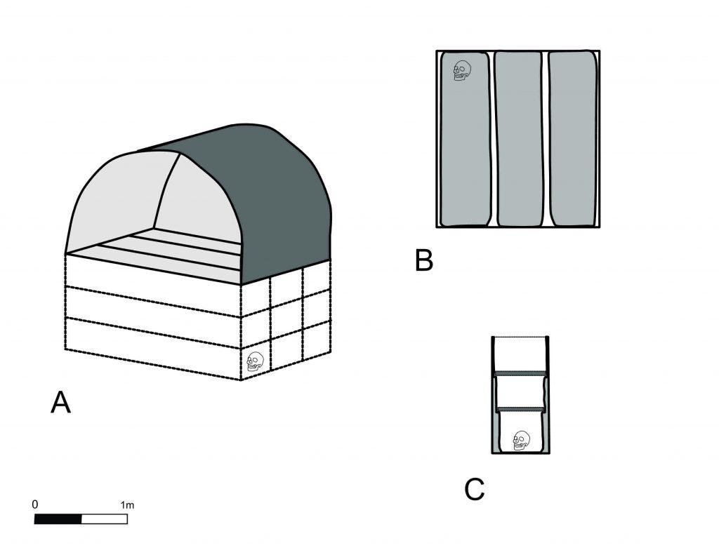 diagram of a tomb